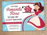 Retro Housewife Bridal Shower Invitations Retro Housewife Bridal Shower Invitation Digital File