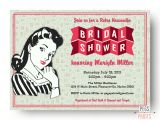 Retro Housewife Bridal Shower Invitations Retro Housewife Bridal Shower Invitation Printable by