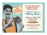 "Retro Housewife Bridal Shower Invitations Retro Housewife Bridal Shower Invitation Template 5"" X 7"