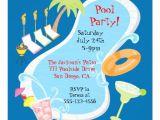 "Retro Pool Party Invitations evening Retro Pool Party Invitations 5 25"" Square"