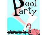 Retro Pool Party Invitations Retro Flamingo Pool Party Invitation Postcards Pcs