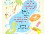 "Retro Pool Party Invitations Retro Pool Party Invitations 5 25"" Square Invitation Card"