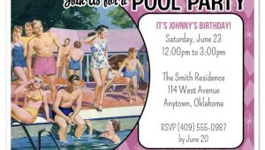 Retro Pool Party Invitations Retro Pool Party Invitations Invitations & Cards On Pingg