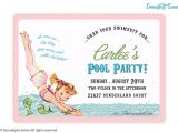 Retro Pool Party Invitations Serendipity soiree Invitation Collections Itsy Bitsy