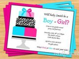 Revealing Party Invitations Gender Reveal Party Invitation Pink and Blue Cake