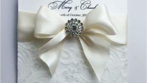 Ribbon Brooch Wedding Invitation Lace Wedding Invitations Free Shipping
