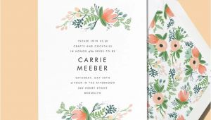 Rifle Paper Bridal Shower Invitations Line Invitations and Cards Custom Paper Designs