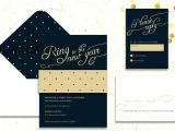 Ring In the New Year Wedding Invite New Year 39 S Eve Wedding Invitations Wedding Stationery