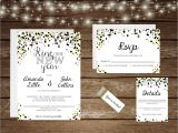 Ring In the New Year Wedding Invite Printable New Years Eve Wedding Invitation Set Ring In the