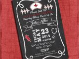 Rn Graduation Invitations Nurse Graduation Party Invitation Chalkboard Style 4×6 or 5×7