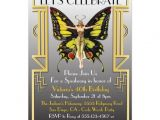 Roaring 20 S Flapper Party Invitations Roaring 20 39 S Art Deco Flapper Party Invitation Zazzle