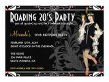 Roaring 20 S Flapper Party Invitations Roaring 20 39 S Flapper Girl Retro Invitations 5 Quot X 7