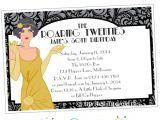 Roaring 20 S Flapper Party Invitations Roaring 20 39 S Printable Invitation 1920 39 S Flapper Party