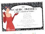 Roaring 20 S Flapper Party Invitations Roaring 20s Party 1920s Invitation Personalized