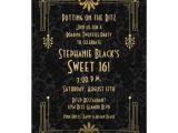 Roaring 20 S Flapper Party Invitations Sweet 16 Birthday Invitation Roaring 20s Art Deco Zazzle Com