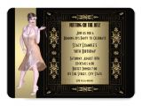 Roaring 20 S Party Invitations Art Deco Roaring 20 S Birthday Party 5×7 Paper Invitation