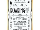 Roaring 20 S Party Invitations Roaring 20 S Retro Art Deco Party Invitation