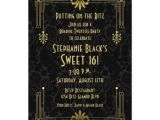 Roaring 20 S Party Invitations Sweet 16 Birthday Invitation Roaring 20s Art Deco