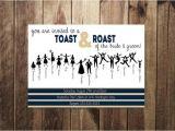 Roast and toast Birthday Invitation Engagement Party Invitation Bride and Groom Roast and