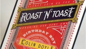 Roast and toast Birthday Invitation Roast and toast Birthday Invitation