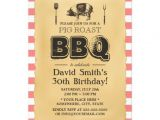 Roast Birthday Party Invitations Classic Red Plaid Pig Roast Bbq Birthday Party 5×7 Paper