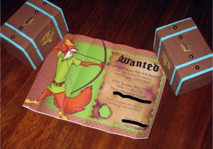 Robin Hood Birthday Party Invitations A Chi Chi Affair Robin Hood Party