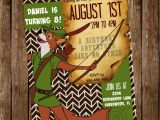 Robin Hood Birthday Party Invitations Disney 39 S Customized Robin Hood Invitation 5×7 Jpg and