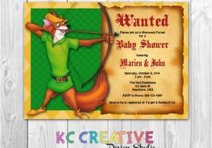 Robin Hood Birthday Party Invitations Robin Hood themed Custom Printable Baby Shower Invitation