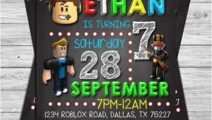 Roblox Birthday Invitation Template Roblox Birthday Invitation Roblox Chalkboard Invitation