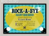 Rock A bye Baby Shower Invitations Items Similar to Rock A bye Baby Baby Shower Rockstar