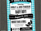 Rock A bye Baby Shower Invitations Rock A bye Baby Shower Couples Shower by Michelepurnerdesigns