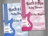 Rock A bye Baby Shower Invitations Rock A bye Baby Shower Invitation by Puddledesign On Etsy