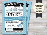 Rock A bye Baby Shower Invitations Rock A bye Baby Shower Musical Baby Shower Invitation