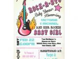 Rock A bye Baby Shower Invitations Rock A bye Rockstar Baby Shower Invitations