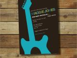 Rock and Roll Baby Shower Invitations Rock and Roll Baby Shower Invitation Boy or Girl Guitar