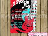 Rock and Roll Baby Shower Invitations Rock and Roll Invitation Rocker Baby Shower by Mimisdollhouse