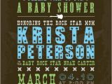 Rock and Roll Baby Shower Invitations Rock N Roll Baby Shower Invitation Printable File