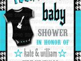 Rock and Roll Baby Shower Invitations Rockabilly Rock N Roll Rock A bye Baby Shower Invitation