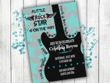 Rock N Roll Baby Shower Invitations Baby Shower Invitation Rock N Roll Baby Shower Boy Baby