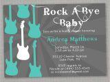 Rock N Roll Baby Shower Invitations Rock A bye Baby Shower Invitation by Greysquare On Etsy