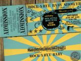 Rock N Roll Baby Shower Invitations Rock N Roll Baby Shower Ticket Invitation by Hydraulicgraphix