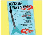 Rock Star Baby Shower Invitations Items Similar to Rock Star Baby Shower Invitation On Etsy