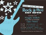 Rock Star Baby Shower Invitations Items Similar to Rock Star Guitar Baby Shower Invitation