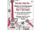 Rock Star Birthday Invitation Templates Party Like A Rock Star Invitations Paperstyle