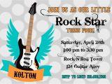 Rock Star Birthday Invitation Templates Rock Star Birthday Party Invitation Boy Templates