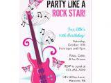 Rock Star Birthday Invitation Templates Rock Star Guitar Hero Birthday Party Invitations 5 Quot X 7