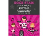 Rock Star Birthday Party Invitation Wording 1000 Images About Rock Star Birthday Party Invitations On