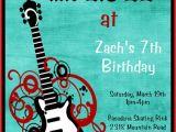 Rock Star Birthday Party Invitation Wording Items Similar to Rockstar Birthday Invitation Rock Star
