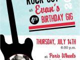 Rock Star Birthday Party Invitation Wording Rock Out Like A Rock Star Birthday Boy Invitation Printable