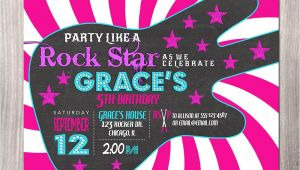 Rock Star Birthday Party Invitation Wording Rock Star Birthday Invitation Girl Rock Star Invitation